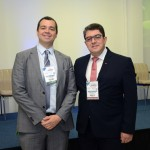Edmilson Romão, presidente da Abav-SP, e Marcos Lucas, presidente da Aviesp