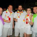 Eduardo Moura, Rodolfo Guarino e Roberto Lastoria, da Schultz, com Caroline Thomazini, da Feito para Viajar, e Rodrigo Santos, da RS Tour