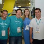 Edvaldo Ferraz e Cesar Dantas, da Ancoradouro, Deborah Daloia, da Thai Airways, e Paulo Requena, da R11