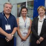 Enrique Aguerre, Melissa Rosano e Mariella Volppe, do Turismo do Uruguai