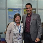 Estela Farina, e Frank Medina, da Norweigian Cruise Line