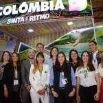 Expositores da Colômbia