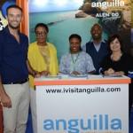 Expositores da Ilha de Anguilla