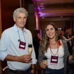 Fabio Ferreira, da Special Trip, e Marina Schwartzmann, da Costa Brava