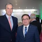 Fernando Fischer, presidente da Reed, com Manoel Linhares, presidente da ABIH