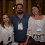 Francine Lamaro, da Wings, Claudinei Eves, da Eves Turismo, e Eliana Neves, da Golden Trip