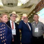 Francisca Ivanilde e Atila Rocha, da Secretária de Turismo de Fortaleza, com Vinicius Lummertz e Marcos Lucas