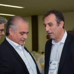 Gilberto Abdou Helou, prefeito de Águas de Lindóia, e André Eduardo, prefeito de Socorro