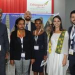 Girum Abebe e Ricardo Guimarães, da Ethopian Beza Melis, Miheret Gebremedhin e Mariane Cestari, da Embaixada da Etiópia no Brasil, e Raphael de Lucca, da Ethopian