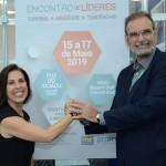 Gisele Lima, da Promo, e Ibrahim Tahtouh, da  IT Mice