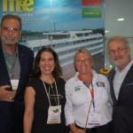 Ibrahim Tahtouh, da IT Mice, Gisele Lima, da Promo, Rosa Masgrau, do M&E e Otávio Neto, do Grupo Radar