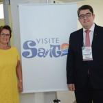 Inês Bellini, vice-presidente do Visite Santos, e Marcos Lucas presidente da Aviesp