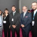 Ivan Blanco, Gisela Marino, da Aerolíneas Argetinas, Philipe Campelo, do Rio CVB, Clovis Casemiro, do IGLTA, e Diogenes Toloni, da Aerolíneas Argentinas