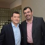 Ivan Blanco, da Aerolíneas Argentinas, e Vanderlei Folgueral, Grupo BRT
