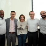 Jackson Soares, Marcelo Sacchitiello, Viviane Costi, Vicent Brasil, e Bruno Yasumura, da CVC Corp