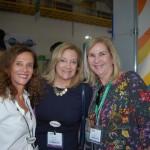 Jane Terra e Elaine Blazys do Visit Orlando junto com Lucia Motta da Nice Via Apia Turismo
