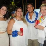 Jessica Bueno e Carla Cecchele, do Hard Rock, Rodrigo Pinheiro, de Fort Lauderdale, e Adriana Penha, de Curaçao