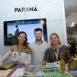 Jordana Pimentel, da Ópera de Arame, Bruno carraro, do Instituto Municipal de Turismo de Curitiba, e Vania Climinacio, da Paraná Turismo