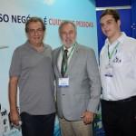 Jose Oscar Quessa, da Multi Hotéis, Celso Guelfi e Leonardo Guelfi, da GTA