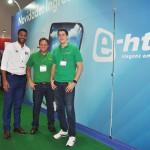 Juliano Braga, do M&E, Giauco Fernandes Zebral e Gustavo Gomes de Souza da Localiza Hertz