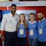 Juliano Braga, do M&E, com Daianna Regina, Juarez Tavares e Emili Piovesan, da Machadinho Thermas