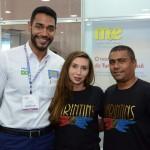 KArla Ferreira e Alzenilson Aquino, da Prefeitura Municipal de Parintins, com Juliano Braga, do M&E