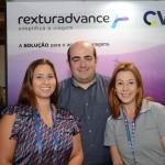 Karliana Leite, Fernando Silvino e Danyele Bellangero, da RexturAdvance