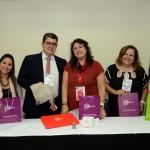Kelly Castange, Marcos Lucas, Vera Marcelino e Juliana Assumpção, da Aviesp, com Milagros Ochoa, do Turismo do Perú