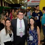 Kelly Castange, Marcos Lucas e  Juliana Assumpção, da Aviesp