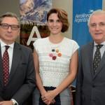 Luis Castillo, cônsul Geral da Argentina em São Paulo, Natalia Pisoni, da Inprotur, e MArcos Bednarski, consul geral adjunto da Argentina
