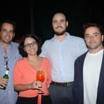 Luis Henrique Sassi e Camila Kume, da Flap Tur, Guilherme Polacow, da Team Travel, e Carlos Coltro, da Xtravel