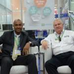 Luiz Sobrinho, com Roy Taylor, do M&E