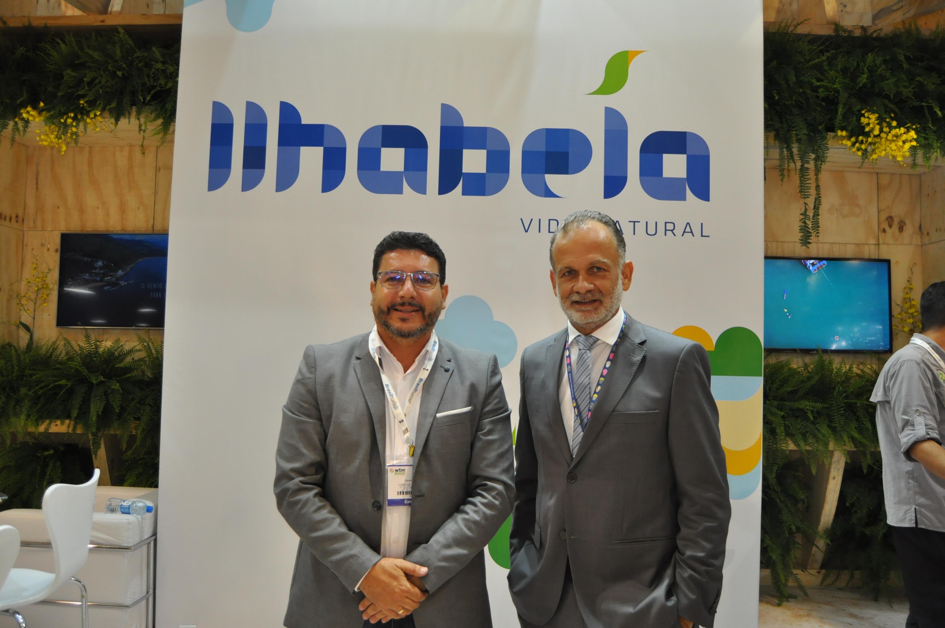 Márcio Tenório e Rogério Fazzini, prefeito e secretário de Turismo de Ilhabela