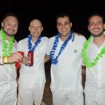 Márcio Tonetti, da Aeroplus, Paulo Miguel, da TZ Viagens, Clayton Araujo, da Europamundo, e Rodrigo Bonelli, da Schultz
