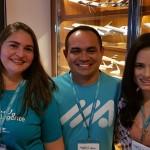 Mísia Martins (Ancoradouro Belém), Almir Lima (APL Viagens Belém) e Patrícia Ferreira (Aliança Viagens Belém)