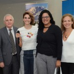 MArcos Bednarski, consul geral adjunto da Argentina, Natalia Pisoni, da Inprotur, Micheli Sobral, da Tunibra Travel, e Paula Fariña, da Inprotur