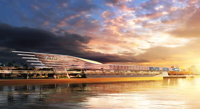 MSC Cruzeiros revela planos para terminal de multicruzeiros altamente inovador no Porto de Miami