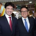 Marcelo Álvaro Antônio, ministro do Turismo, e Vinicius Lummertz, secretário de Turismo de São Paulo
