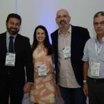 Marcelo Neder e Juliana Assumpção, da Aviesp, Lauro Franco, de Aguás de Lindoia, e Benjamin, da Panorama Eventos e Turismo