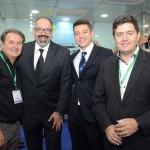 Marcelo Oste, Sergio Gouveia e Leandro Aragonez, da Promo, e Roberto Vertemati, do Beto Carrero World