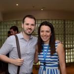 Marco Fabrizio, da Decolar.com, e Sonaira Zanella, da Aerolíneas Argentinas