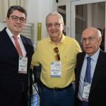 Marcos Lucas, da Aviesp, Welinghton Cordeiro, da Welingtour Viagens, e Sebastião Pereira, da Aviesp
