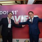 Marcos Lucas, da Aviesp, e Vinicius Lummertz, secretario de Turismo de SP