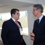 Marcos Lucas e Marco Ferraz, presidente da Aviesp e presidente da Clia