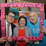 Marcos Lucas, presidente da Aviesp, Ana Costa, secretária de Turismo do RN, e Renato Carone, diretor da Turnet