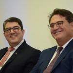 Marcos Lucas, presidente da Aviesp, e Vinicius Lummertz, secretário de Turismo de SP