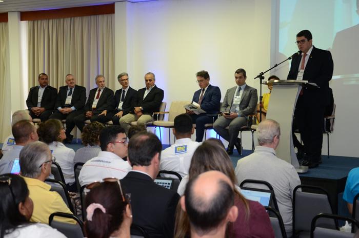 Marcos Lucas, presidente da Aviesp, na abertura do evento