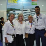 Mari Masgrau, Rosa Masgrau e Juliano Braga, do M&E e Annette Taeuber, direto geral da Lufthansa no Brasil