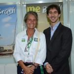 Mari Masgrau, do M&E, e João Pita, da GRU Airport