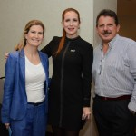 Marina Valle, da Arakur Ushuaia, Cristiane Cavalli, do Turismo de Ushuaia, e Pablo Lomuto, da Tremun Hotels